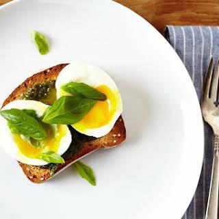 Basil Pesto & 6 Minute Egg on Toast.