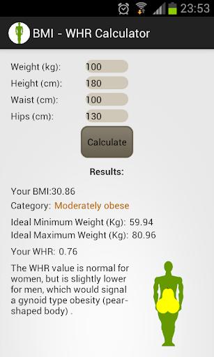 BMI - WHR Calculator