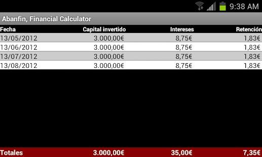 Abanfin Financial Calculator- screenshot thumbnail
