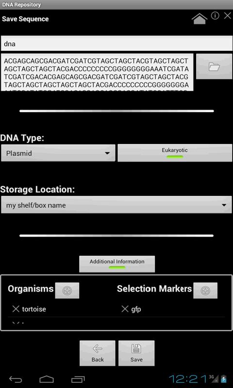 DNA Repository - screenshot
