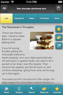 Rawtarian's Raw Recipes - screenshot thumbnail