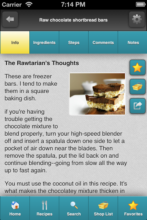 Rawtarian's Raw Recipes- screenshot