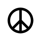 Peace Sign Sticker Widget