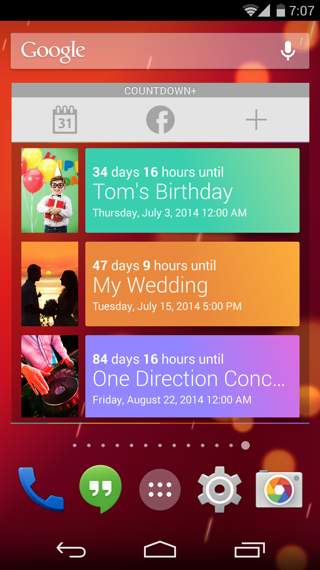 Countdown Plus Widgets Lite screenshot #6