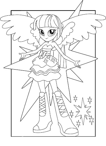 EQUESTRIA GIRL COLORING GAME