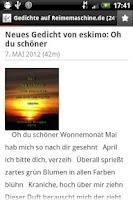 Screenshot of Gedichte von Reimemaschine.de