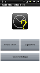 Time calculator as simple