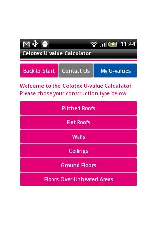 Celotex U-value Calculator
