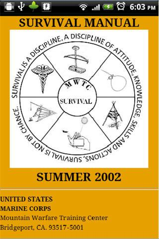 USMC Summer Survival Manual - screenshot
