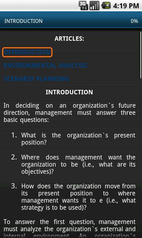 Strategy Management - screenshot
