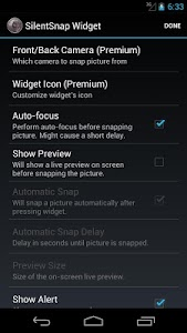 Silent Snap Widget screenshot 1