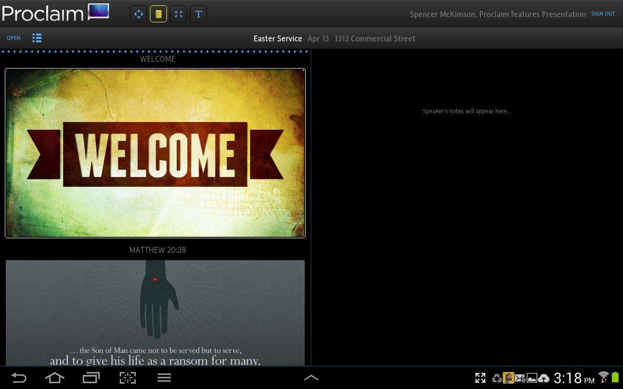 Proclaim Remote - screenshot