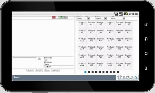 Bonrix RetailDesk POS -Tablet- screenshot thumbnail