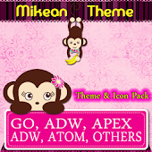 Pink Pretty Monkey Theme Pack