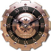 Diamond Rose clock widget