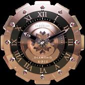 Diamond Rose Clock Widget