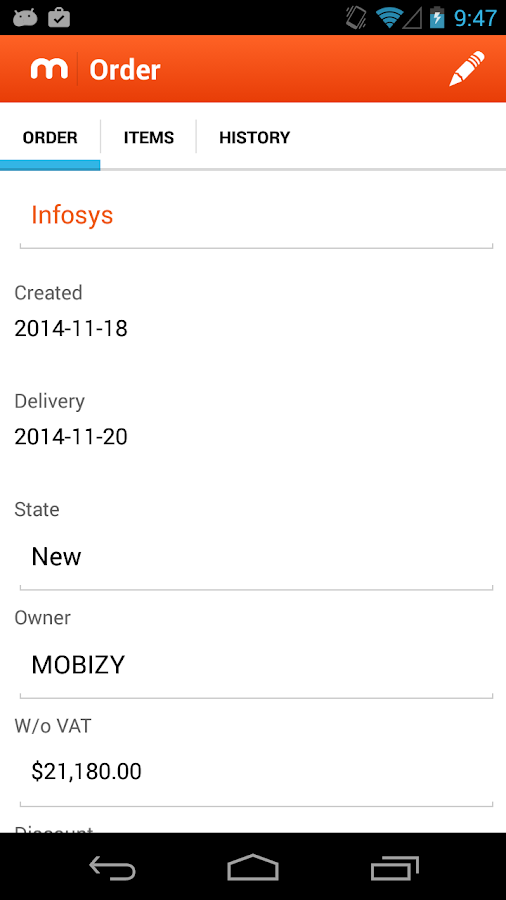 MOBIZY - screenshot