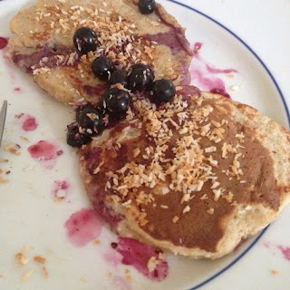 Coconut Blueberry Cloud Pancakes