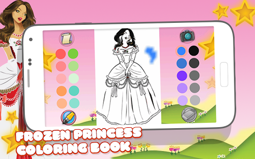 Frozen Princess Coloring Book