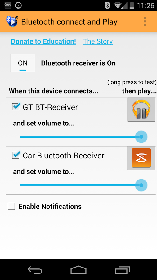 Bluetooth connect & Play - screenshot