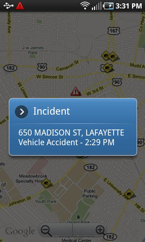 Lafayette Traffic - screenshot