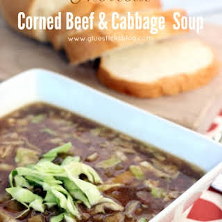 Shortcut Corned Beef & Cabbage Soup.