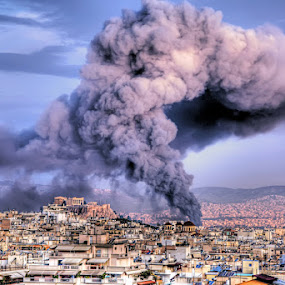 Fire in Athens by Stamatis Gr - News & Events Disasters ( athens )
