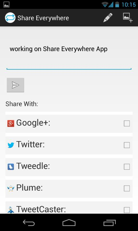 Share Everywhere - screenshot