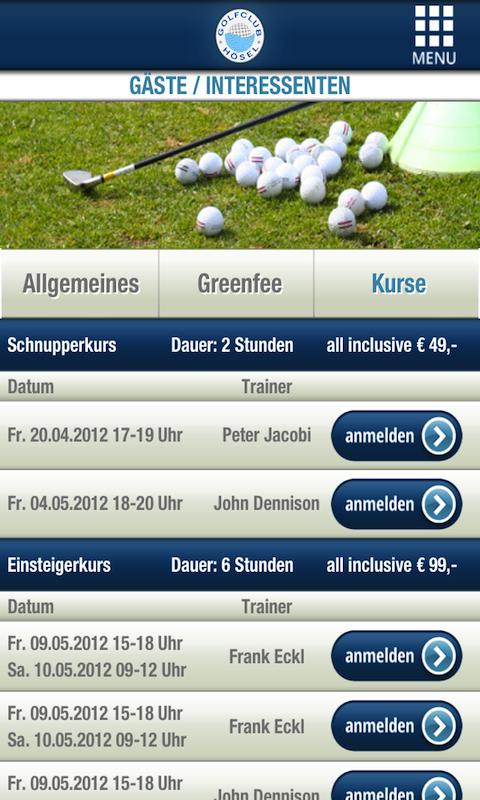 Golfclub Hösel- screenshot