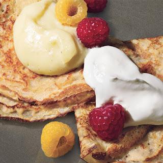 Dessert Pancakes with Custard and Berries Recipe