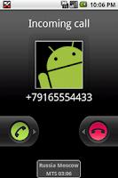 Screenshot of WorldCallPlaceAndTime