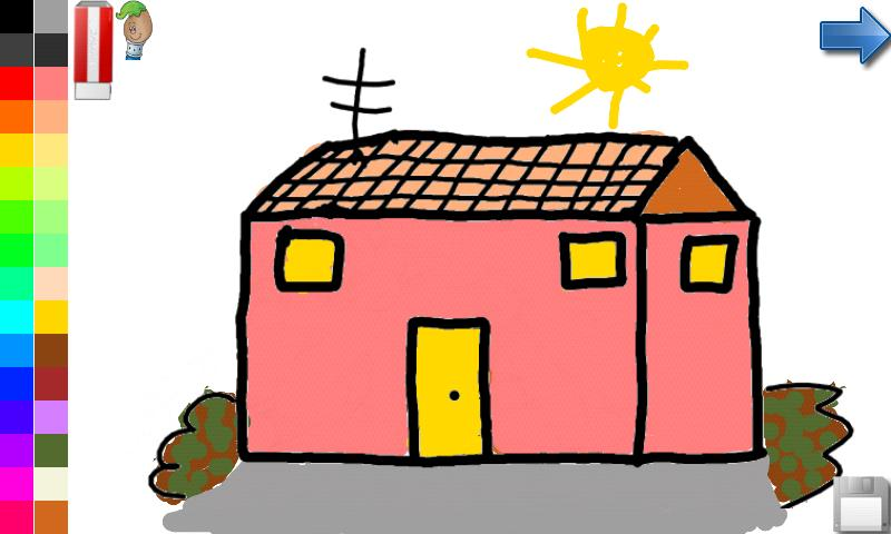 Coloring book house castle android apps on google play Draw your house