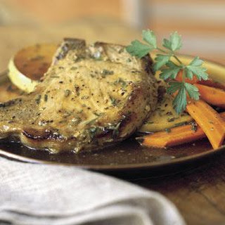 Pork Chops with Garlic and Herbs.
