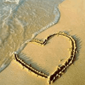 Heart Drawn In Beach Live Wall icon