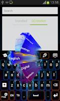 Screenshot of Neon Flame Keyboard