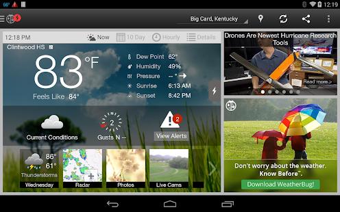 WeatherBug - Forecast & Radar Screenshot 25