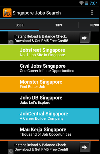 Singapore Job Search Daily Tip
