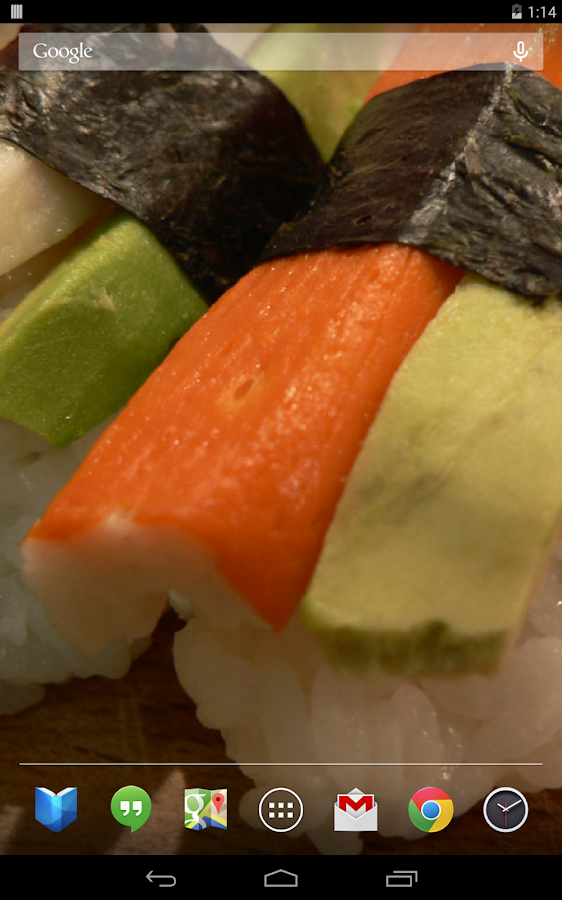 Delicious Sushi Live Wallpaper- screenshot