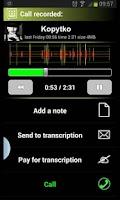 Screenshot of Call Recorder + Dictaphone