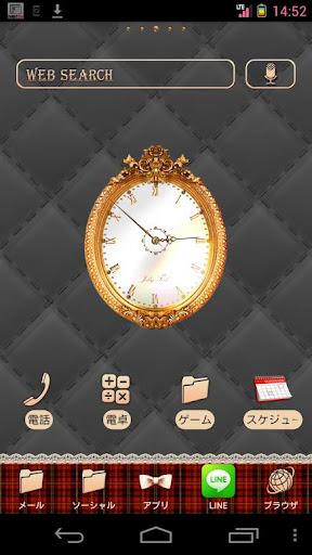 クラシックミラー時計ウィジェット