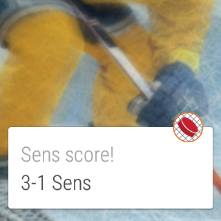 Hockey Score Alert- screenshot
