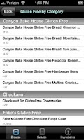 Screenshot of Gluten Free Foods