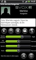 Screenshot of SVOX Hungarian Mariska Trial