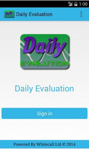 Daily Evaluation
