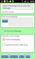 Screenshot of Anniversary Voice Message