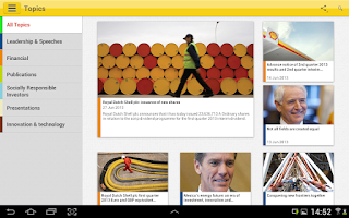 Screenshot of Shell Investor & Media