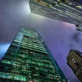 42nd & 6th NYC by Kevin Case - Buildings & Architecture Office Buildings & Hotels ( canon, kevin case, eos 5d mk ii, night photography, kevdia photography, new york city, kevdia photo, architecture, nyc, photography )
