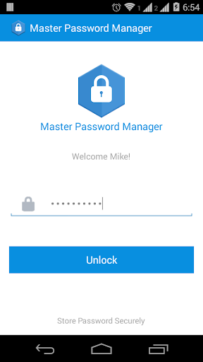 Master Password Manager