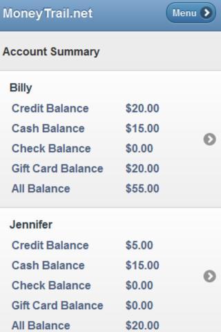 MoneyTrail Allowance Tracker- screenshot