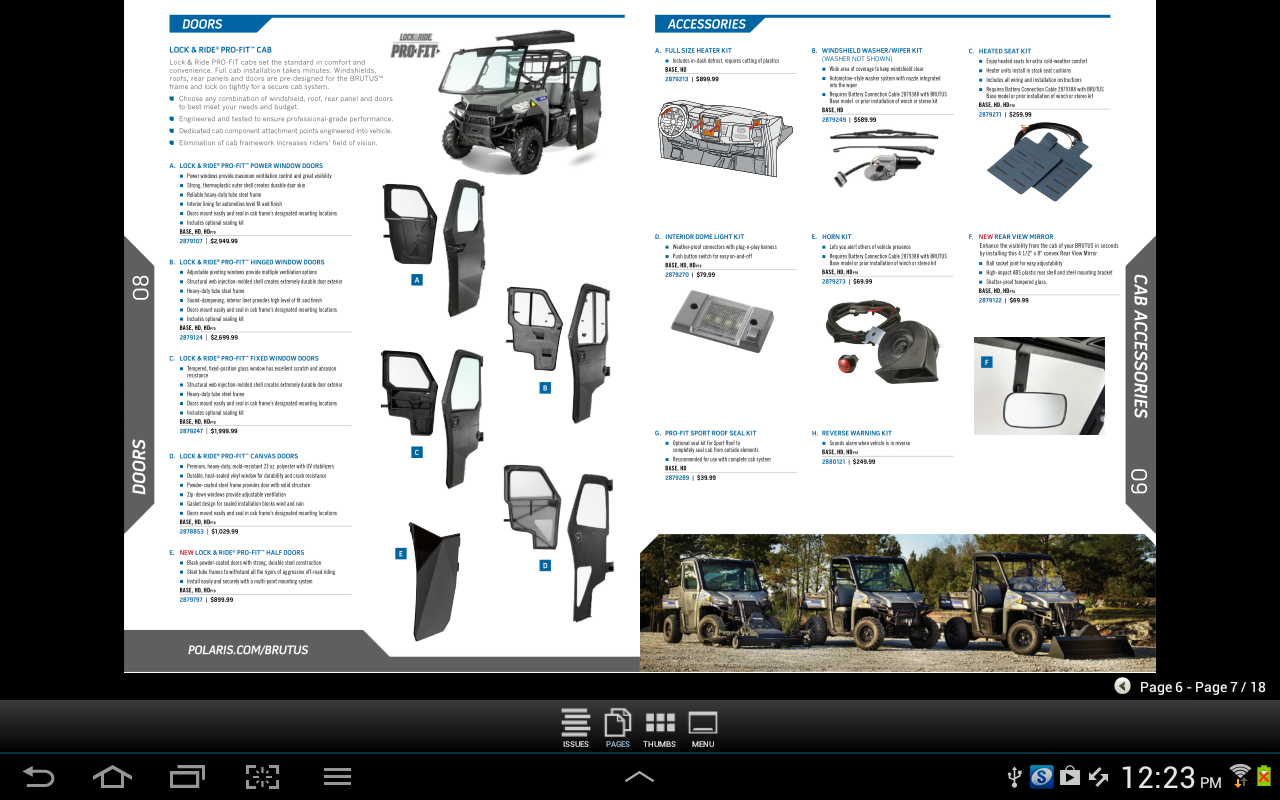 Polaris Off-Road Catalog US - screenshot